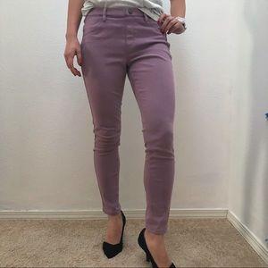 Purple legging jeans